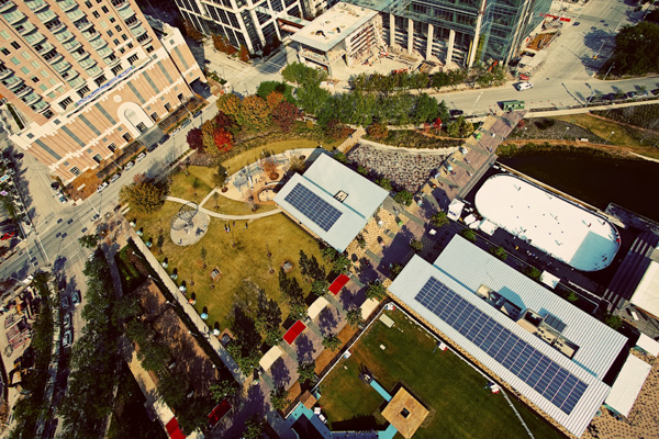Bird's-Eye View of Discovery Green