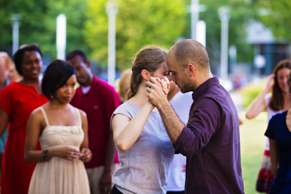 Tango lessons at the park.