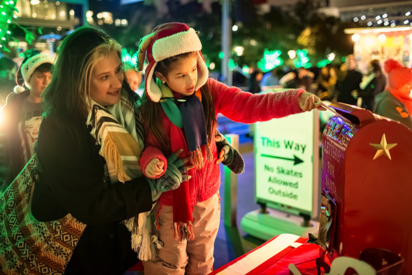 Letters to Santa are sure to arrive when sent from Discovery Green.